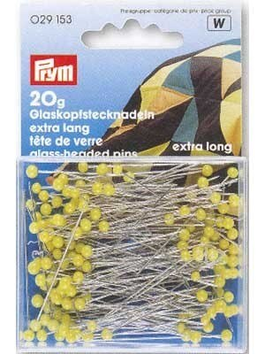 Extra Long Glass Head Pins - 43mm