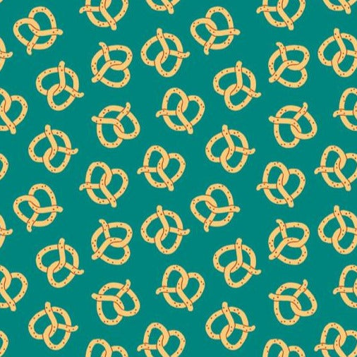 Food Trucks - Pretzels on Teal - 1/4m