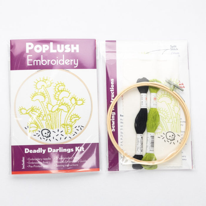 Poplush Embroidery Kit - Deadly Darlings - 5""