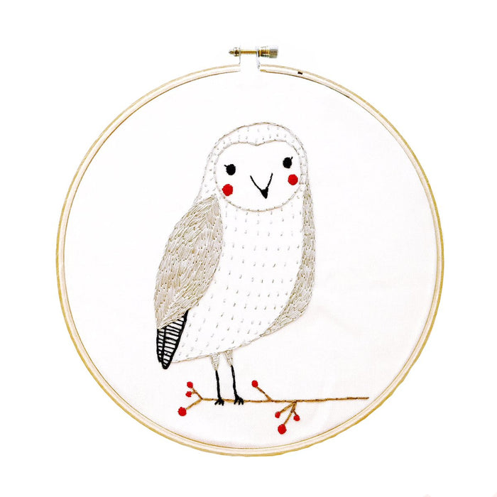 Gingiber Embroidery Sampler - Owl