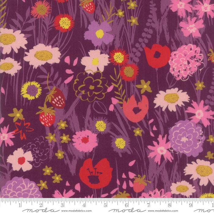 Moda-  Growing Beautiful Plum- Rayon- 1/4m
