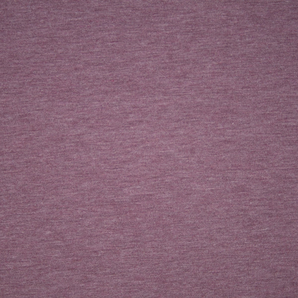 Bamboo/Cotton Stretch French Terry - Heather Rose Brown - 1/4m