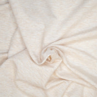 Bamboo/Cotton Stretch French Terry -  Heather Almond - 1/4m