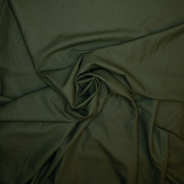 Stretch Linen - Olive - 1/4m