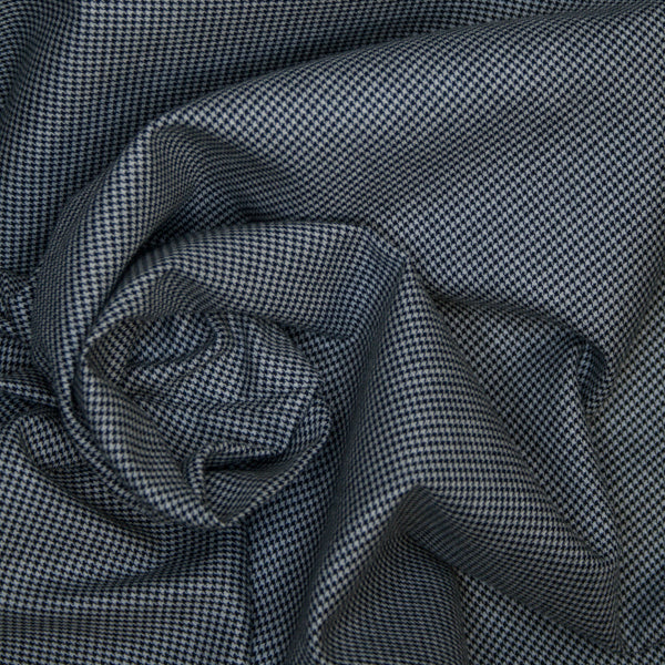 Yarn-Dye Houndstooth - Brushed Cotton -Black - 1/4m