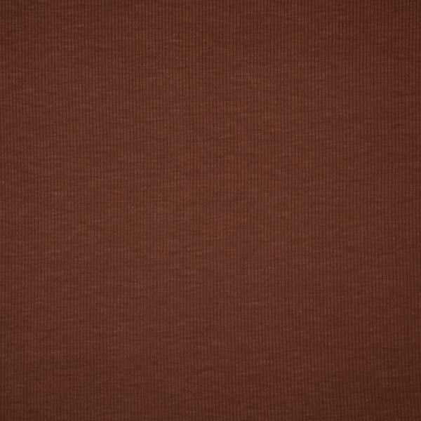Lightweight Rayon Rib Knit - Copper - 1/4m