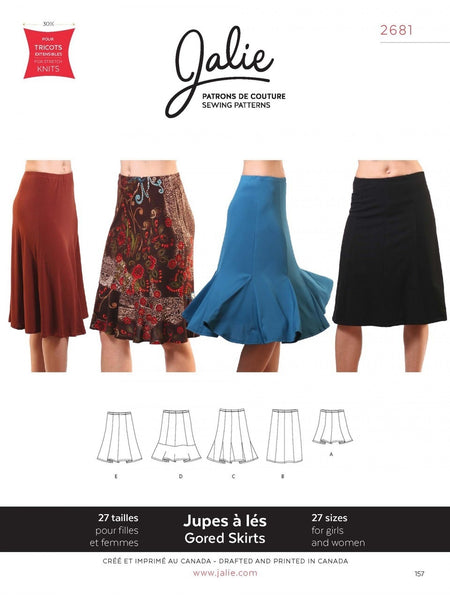 Jalie - 2681 Knit Gored Skirts