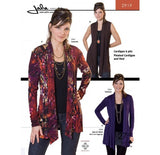 Jalie - 2919 - Pleated Cardigan and Vest