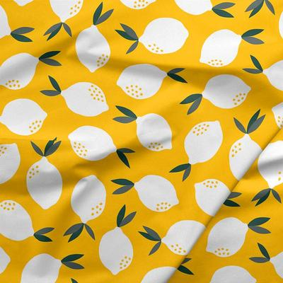 Quilting Cotton - Fruity - Lemons on Yellow - 1/4m