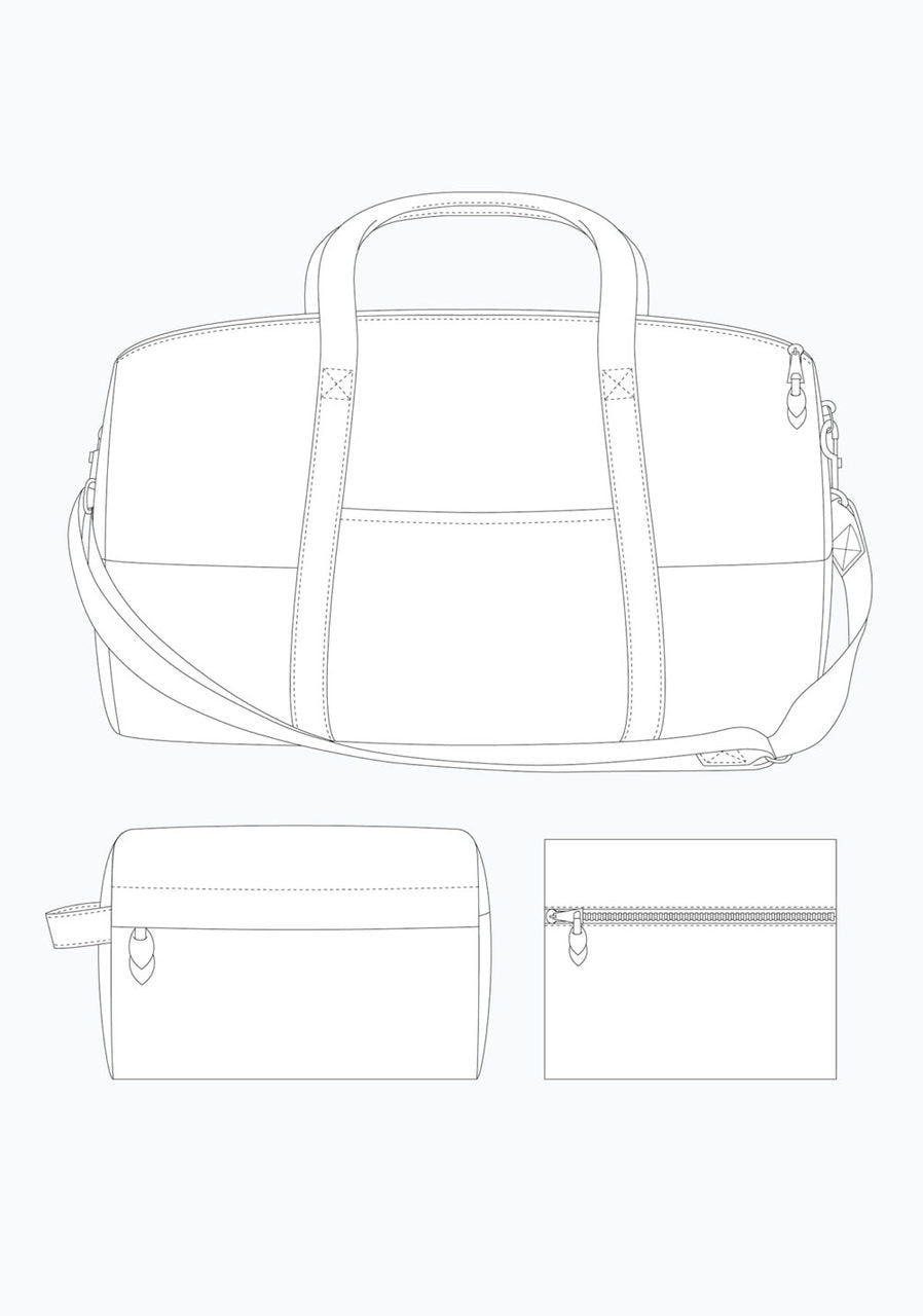 Grainline Studio - Portside Travel Set