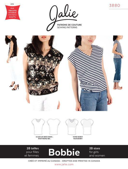 Jalie - 3880 - BOBBIE Worry-Free V-Neck Top