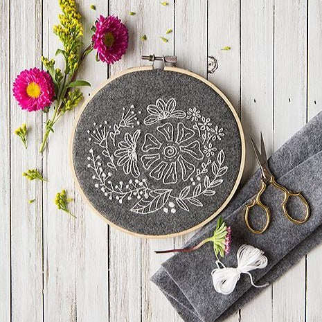 Mini Maker Embroidery Stitch Kit -  Snow Garden
