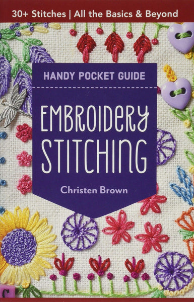 BOOK-Embroidery Stitching Handy Pocket Guide: 30+ Stitches • All The Basics & Beyond