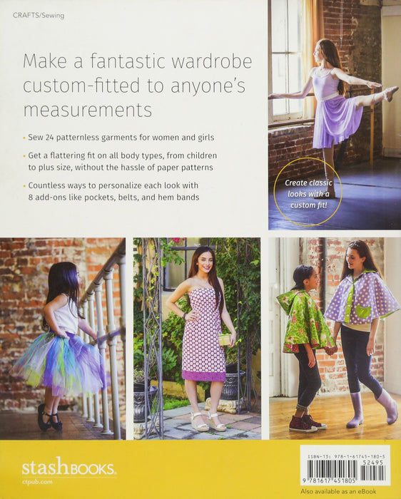 BOOK-Patternless Sewing Mod Style-Just Measure, Cut & Sew for the Perfect Fit! - 24 Garments for Women and Girls