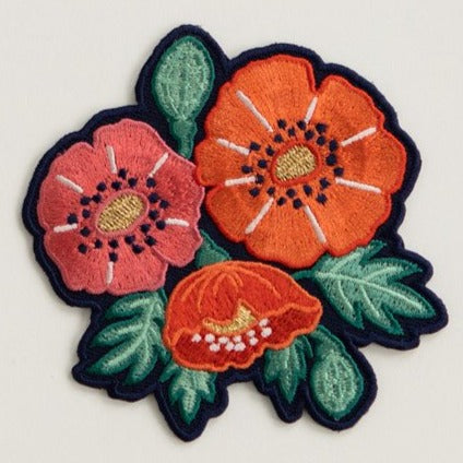 Antiquaria Iron-on Patch - Poppies