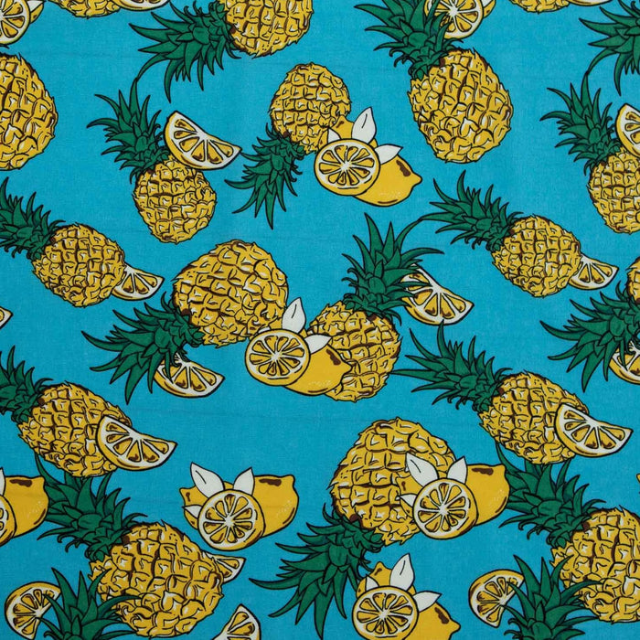 Cotton Linen - Pineapple Party - 1/4m