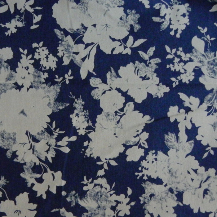 Lightweight Stretch Denim Print - Floral - 1/4m