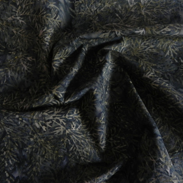 Cotton Batik - Evergreen Branches - 1/4m