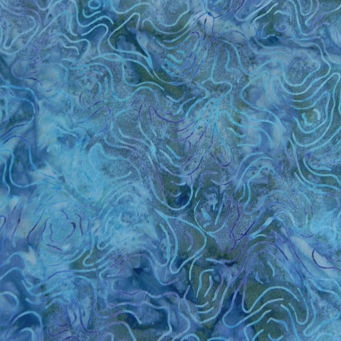 Cotton Batik - Ripple in Water - 1/4m