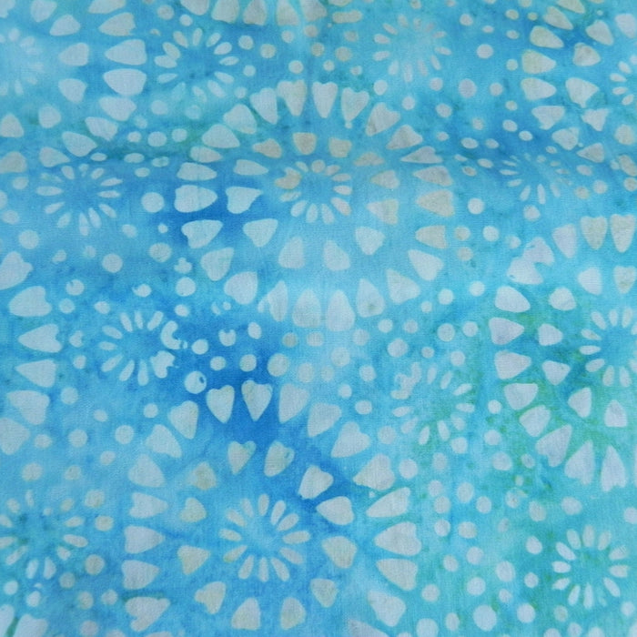Cotton Batik - Blue Bursts - 1/4m