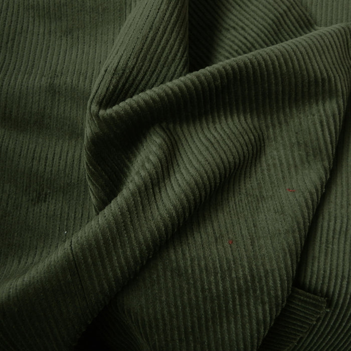 Organic Cotton Stretch Corduroy - 8 Wale - Olive - 1/4m