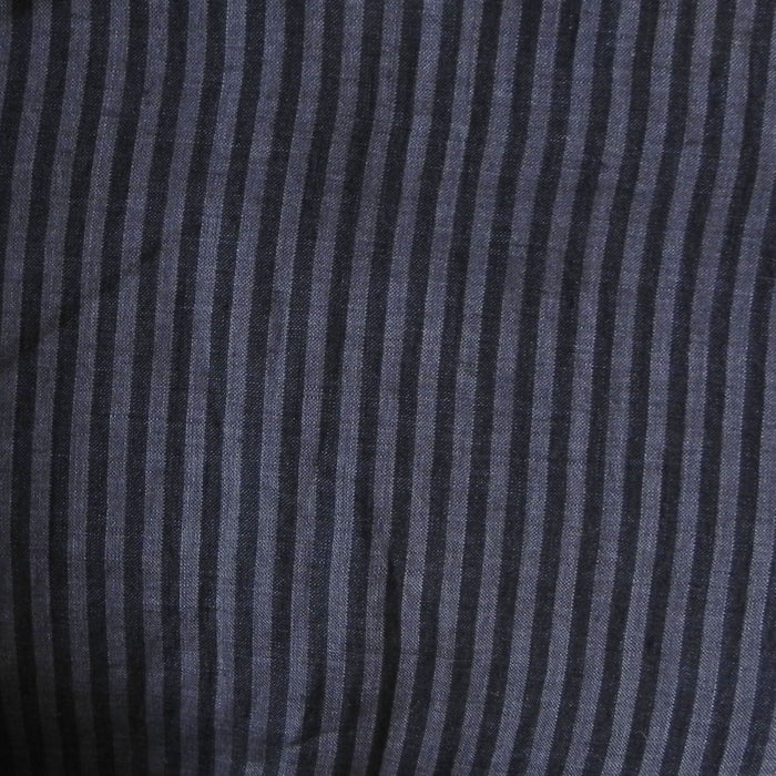 Striped Yarn-Dye Linen - Charcoal - 1/4m