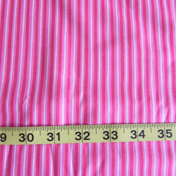Quilting Cotton Print - Pink Stripe - 1/4m