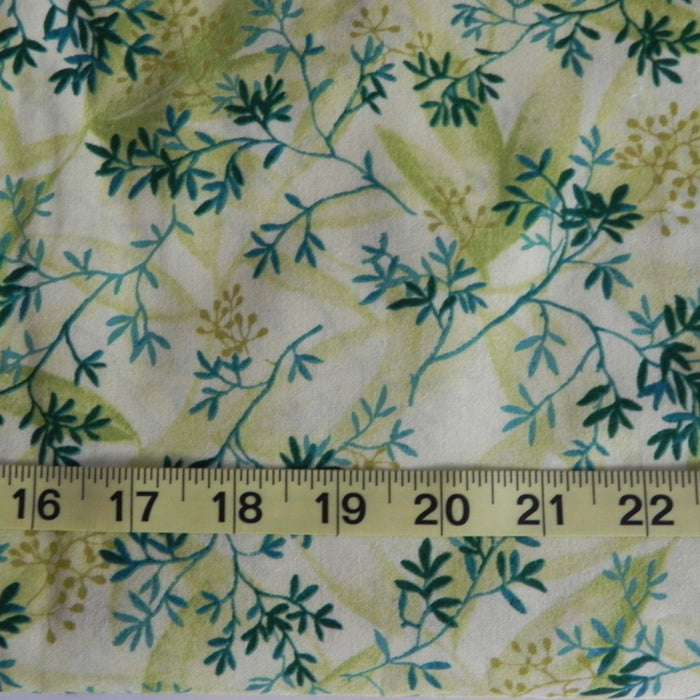 Quilting Cotton Print - Green Gentle Sprigs - 1/4m