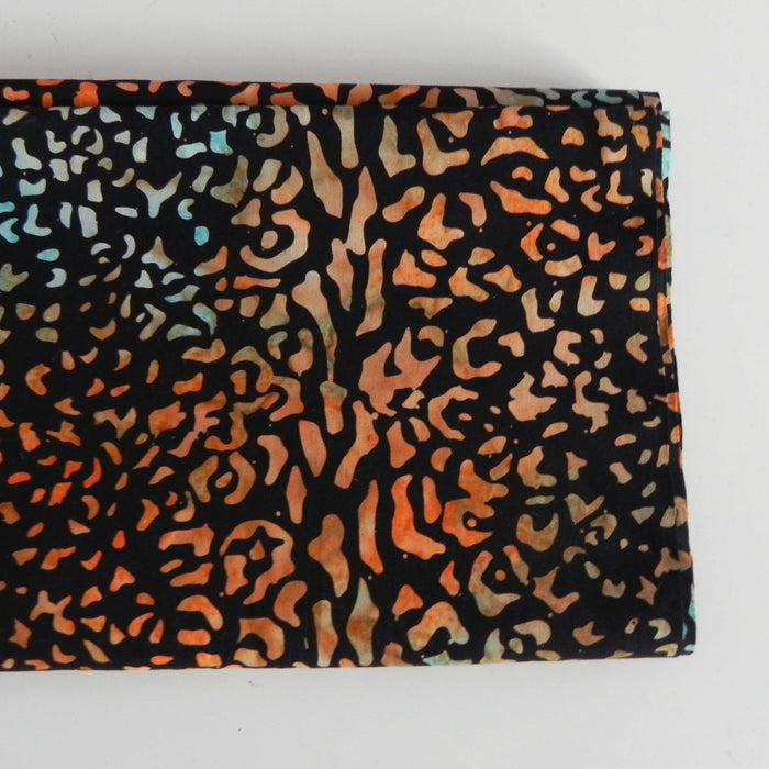 Cotton Batik - Black Tortoiseshell - 1/4m