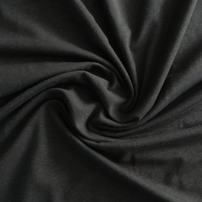 Hemp / Organic Cotton Spandex Jersey - Charcoal - 1/4m