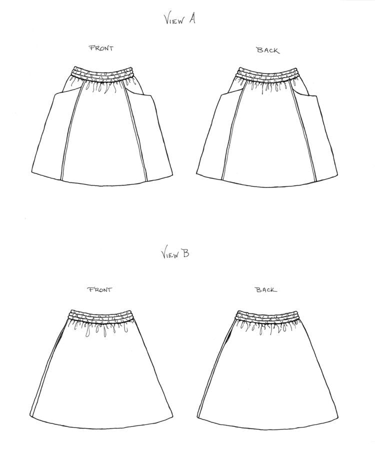Sew Liberated Patterns - Gypsum Skirt Sewing Pattern