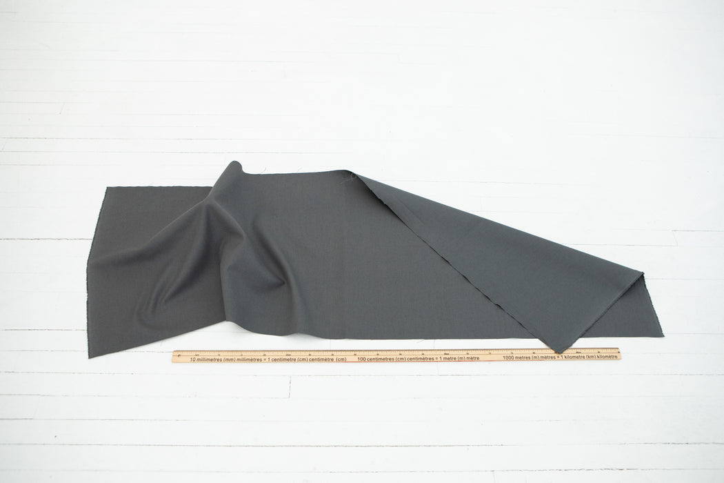 Hemp / Organic Cotton Canvas - Dark Grey - 1/4m
