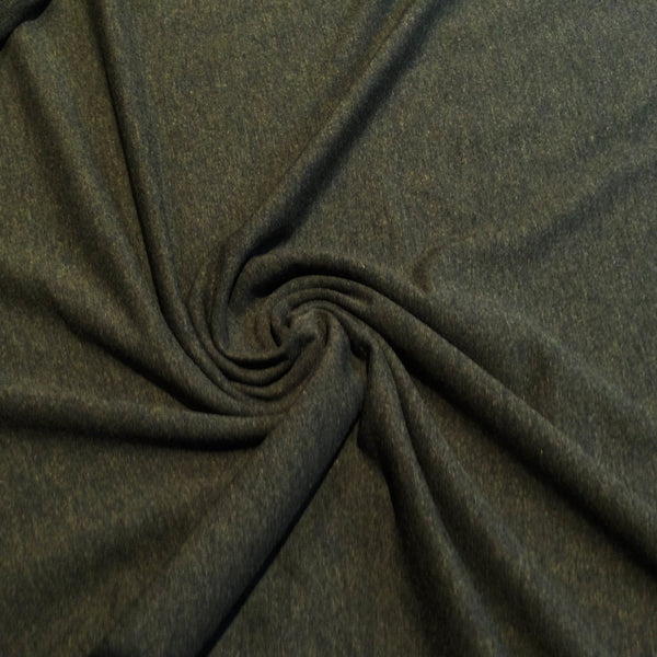 Bamboo/Cotton Stretch French Terry -  Heather Forest - 1/4m