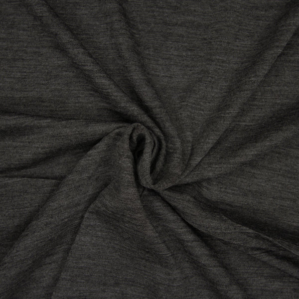 Superfine Merino Wool Jersey - Heather Charcoal - 1/4m