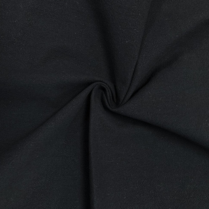 Washed Cotton - Crepe - Black - 1/4m
