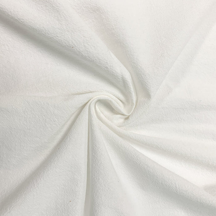 Washed Cotton - Crepe - Ivory - 1/4m