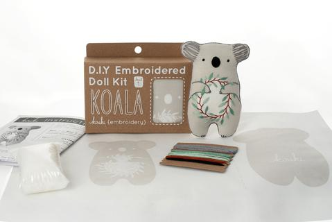 DIY Embroidered Doll Kit - Kiriki Press - Level 1 - Koala