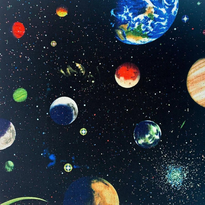 Quilting Cotton Print - Solar Glitter - Space - 1/4m