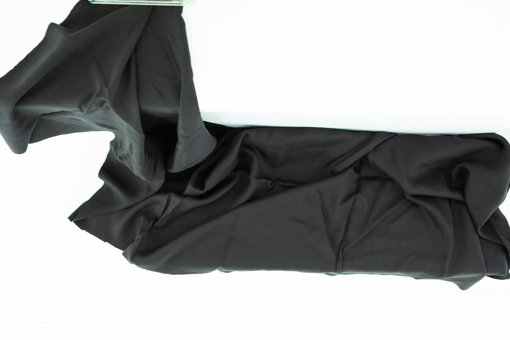 Cotton Velvet - Black - 1/4m