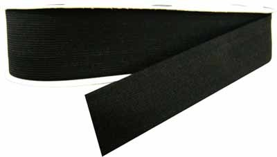Elastic - Belting - 50mm - Black - 1m