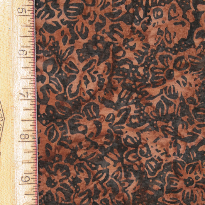 Anthology Cotton - Brown Floral - 1/4m