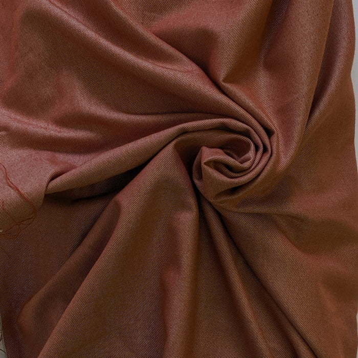 Cotton Tencel Brushed Twill - Redrock- 1/4m