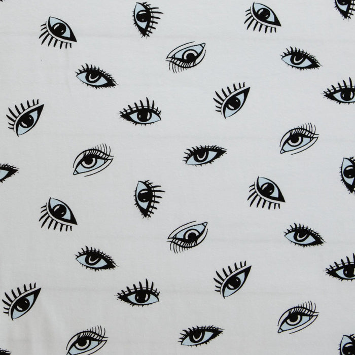 Cotton Spandex Jersey - Eyes - 1/4m
