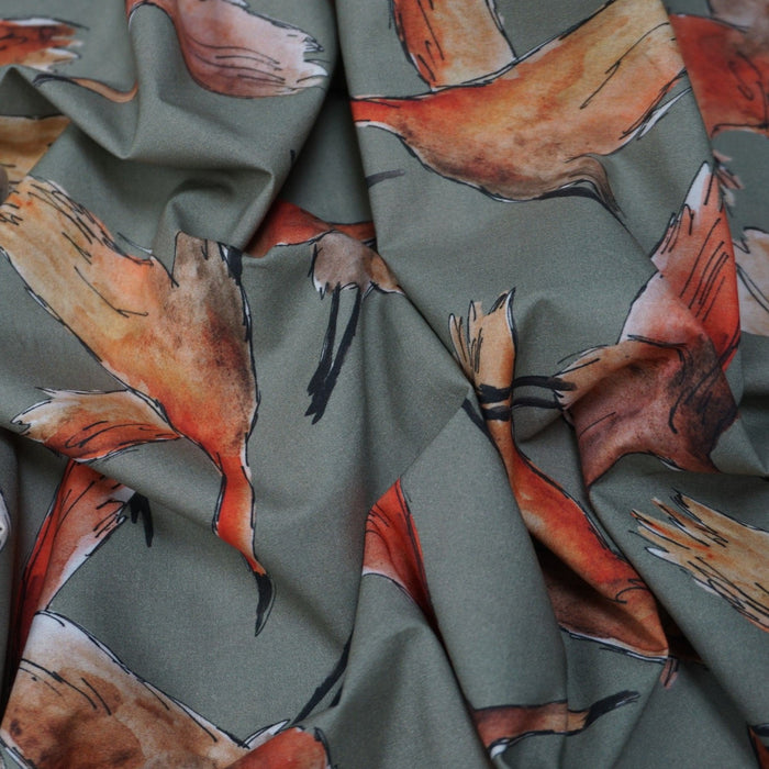 Cotton Marlie Lawn - Flying Flock Sunset - 1/4m