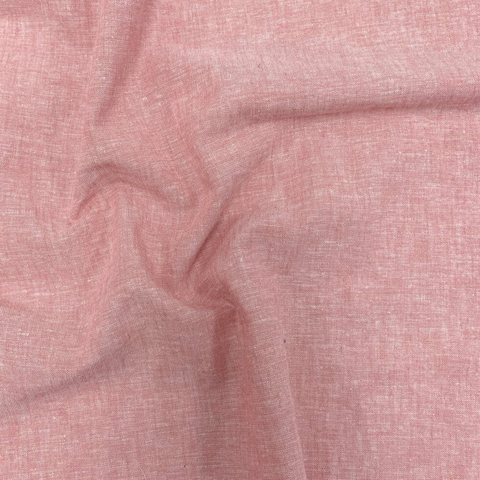 Belize - Yarn-dyed Linen/Cotton - Salmon - 1/4m