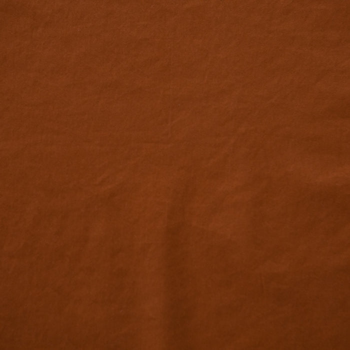 Fawn - Brushed Cotton/Spandex Sateen - Rust - 1/4m