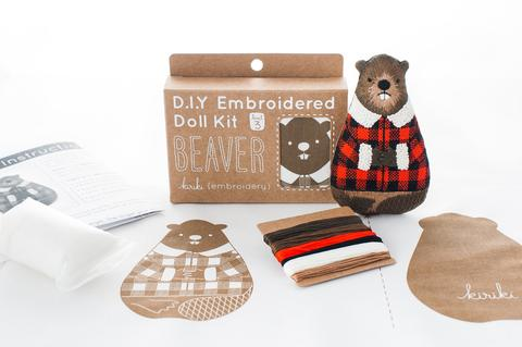 DIY Embroidered Doll Kit - Kiriki Press - Level 3 - Beaver