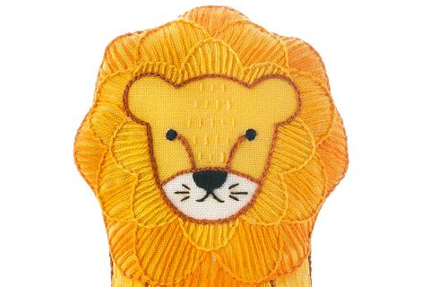 DIY Embroidered Doll Kit - Kiriki Press - Level 2 - Lion