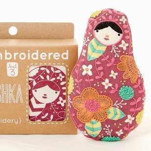 DIY Embroidered Doll Kit - Kiriki Press - Level 3 - Matryoshka