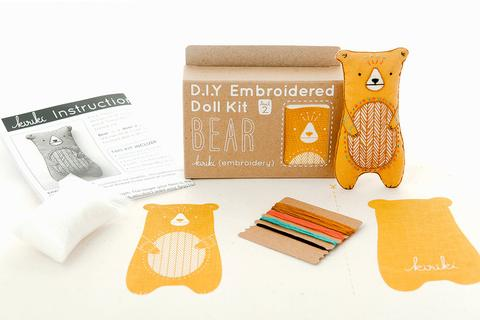 DIY Embroidered Doll Kit - Kiriki Press - Level 2 - Bear